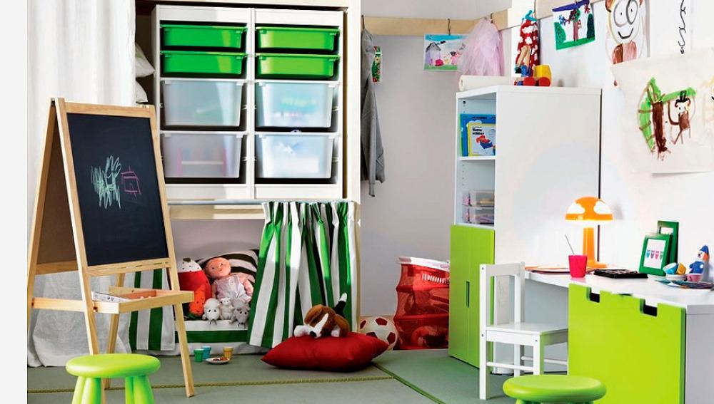 El color verde para pintar la habitación