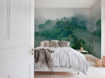 Decora con un mural en el dormitorio