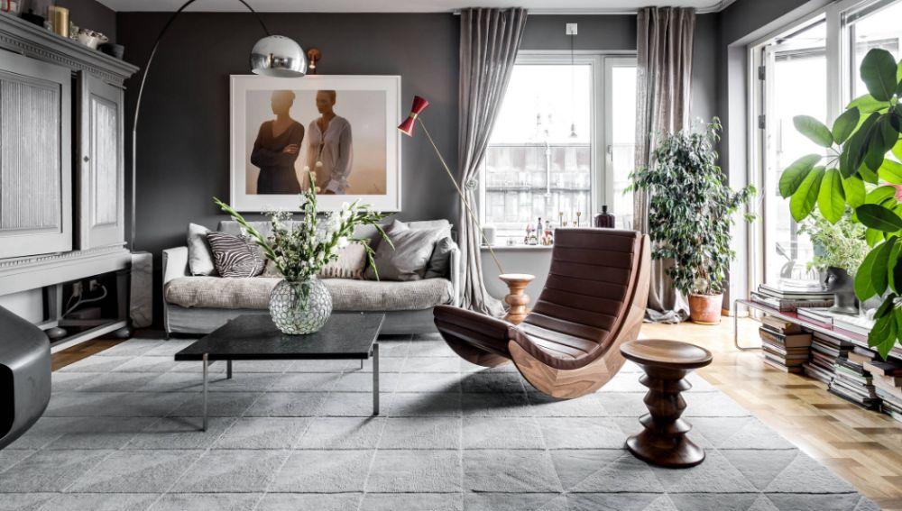 Salón en tono gris
